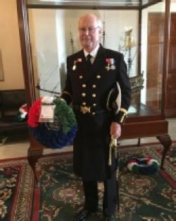 Past FMMC Captain Nigel Palmer OBE, MNM is seen here in his Trinity House Elder Brother regalia attending the service at Tower Hill, London